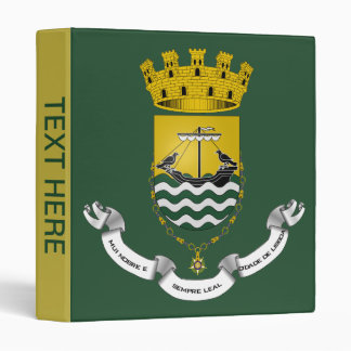 Crest of Lisbon Lisboa Portugal Binder