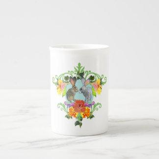 Crest of Rabbits Tea Cup