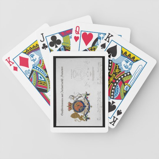Crest of the King of the United Kingdom of Great B Bicycle Playing Cards