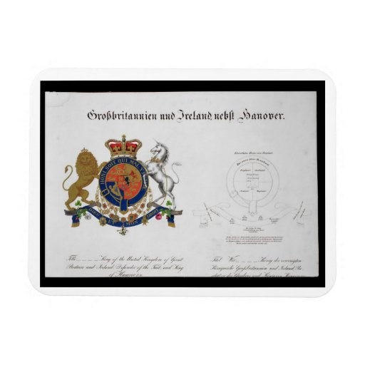 Crest of the King of the United Kingdom of Great B Rectangular Photo Magnet