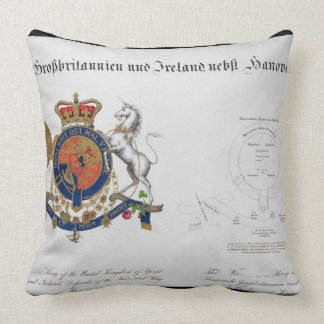 Crest of the King of the United Kingdom of Great B Throw Pillow