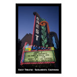 Crest Theatre, Sacramento 11x17 Poster