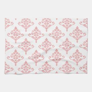 Cresta Damask Pattern (B) Pink Hand Towels