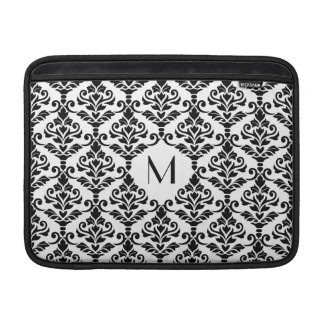 Cresta Damask Ptn BW (Personalized) Sleeve For MacBook Air