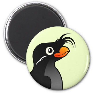 Crested Auklet 2 Inch Round Magnet