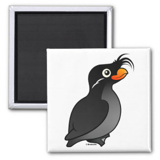 Crested Auklet 2 Inch Square Magnet