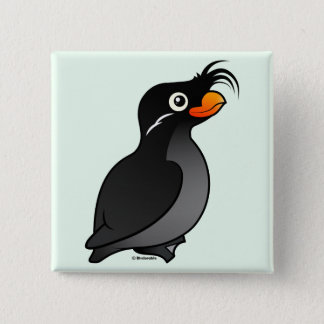 Crested Auklet Pinback Button