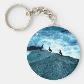 Crested Auklets Keychain