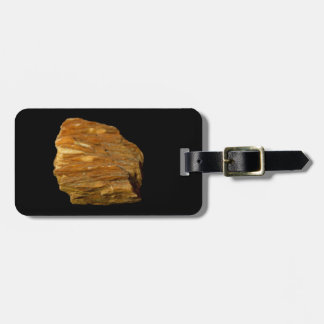 Crested Barite on Black Luggage Tag