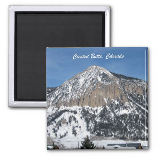 Crested Butte, Colorado 2 Inch Square Magnet