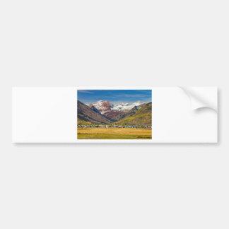 Crested Butte Colorado Autumn View Bumper Sticker