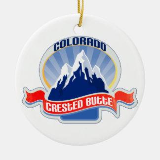 Crested Butte Colorado Ceramic Ornament