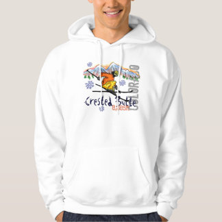 Crested Butte Colorado ski elevation hoodie