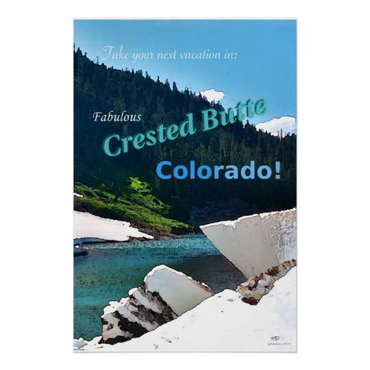 Crested Butte, Colorado Vintage Style Poster