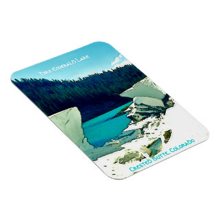 Crested Butte, Colorado Vintage Style Rectangular Photo Magnet
