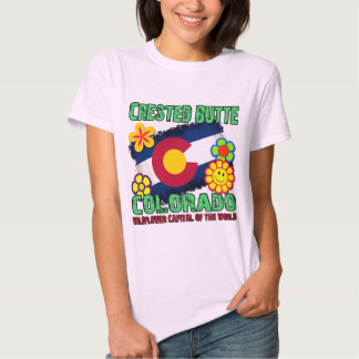 Crested Butte, Colorado Wildflower Capital Tee Shirt