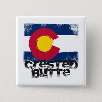 Crested Butte Grunge Flag Button