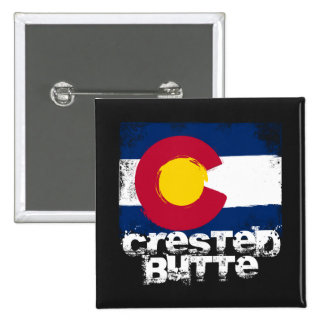 Crested Butte Grunge Flag Pin