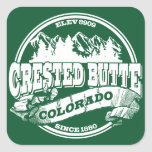 Crested Butte Old Circle Green Square Sticker
