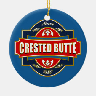Crested Butte Old Label Ceramic Ornament