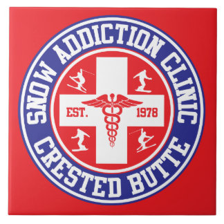 Crested Butte Snow Addiction Clinic Ceramic Tile