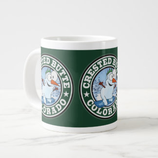 Crested Butte Snowman Circle Large Coffee Mug
