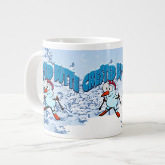 Crested Butte Snowman Large Coffee Mug