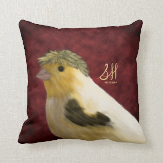 Crested Canary Throw Pillow