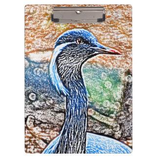 crested crane colored pencil look bird image clipboards