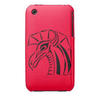 Crested Dragon iPhone 3 Barely There Case iPhone 3 Cases