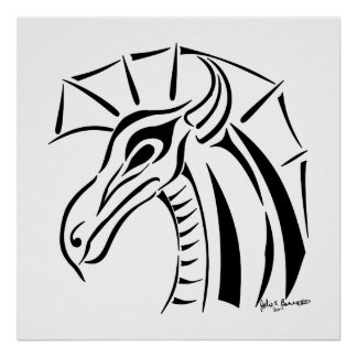 Crested Dragon Print