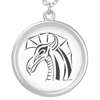 Crested Dragon Round Necklace