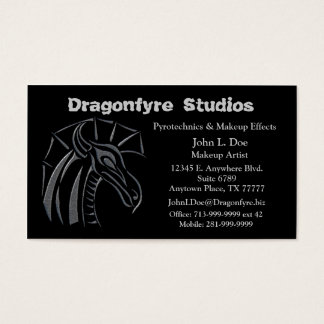 Crested Dragon (silver) Business Card