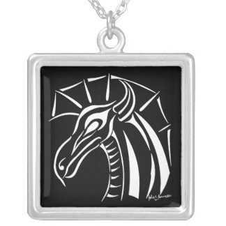 Crested Dragon Square Necklace 2