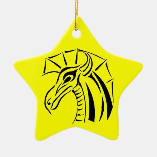 Crested Dragon Star Ornament