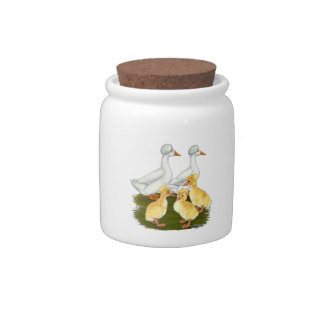 Crested Duck Family Candy Jars