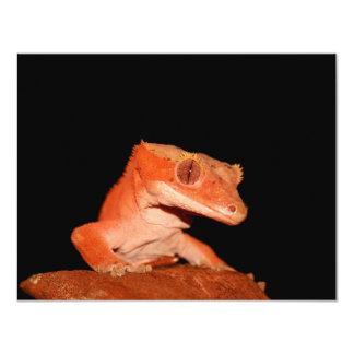 "crested gecko 4.25"" x 5.5"" invitation card"