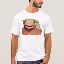 Crested Gecko smiling and licking T-Shirt