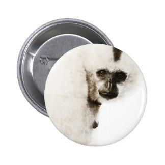 Crested Gibbon #1 Pinback Button