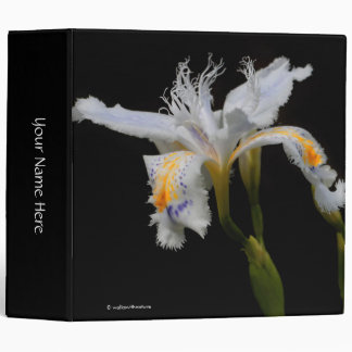 Crested Iris 3 Ring Binder