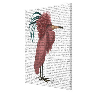 Crested Marsala Bird Canvas Print