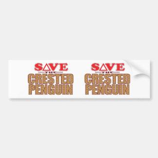 Crested Penguin Save Bumper Sticker