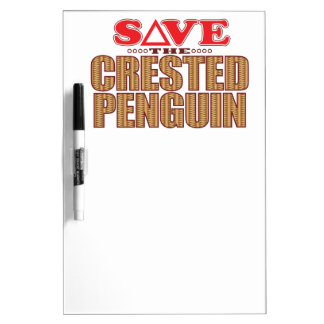 Crested Penguin Save Dry-Erase Board