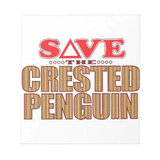 Crested Penguin Save Notepad