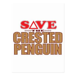 Crested Penguin Save Postcard