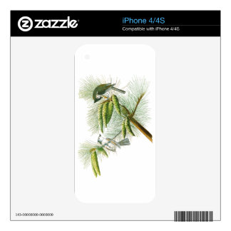 Crested Titmouse John James Audubon Birds America Skins For iPhone 4S