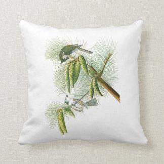 Crested Titmouse John James Audubon Birds America Throw Pillow