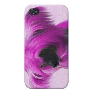 Crestie rosado iPhone 4 funda