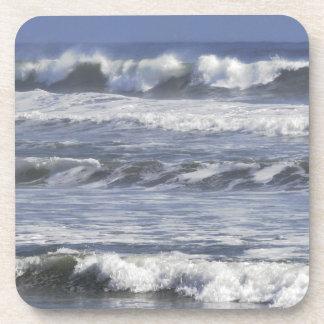 Cresting Beaking Waves Coasters, Set of 6 Plastic Beverage Coaster
