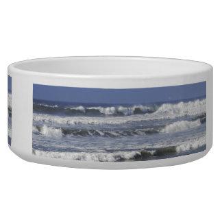 Cresting Beaking Waves Large Pet Bowl